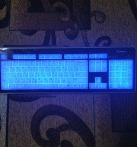 Клавиатура с подсветкой,и мышь игровая