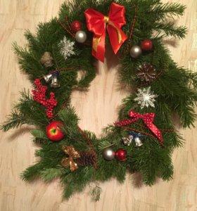 Рождественский  венок из пихты
