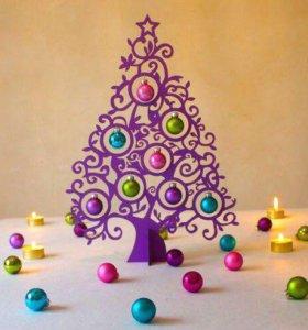 Новогодняя елочка декор из дерева