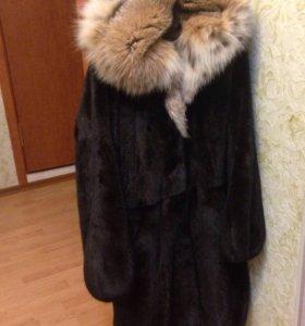 Шуба норковая черная blacklama