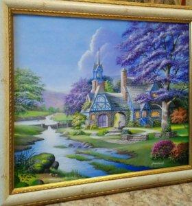 """Картина """"Clocktower cottage"""""""