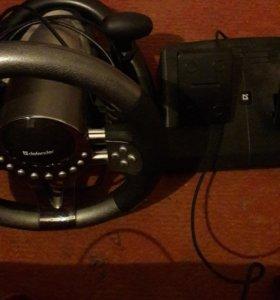 Игровой руль + педали