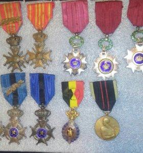 Ордена Бельгии и медали.