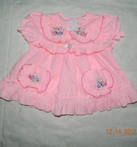 Платья на девочку в ассортименте 0,3 - 2 года
