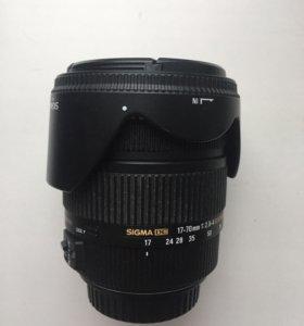 Объектив Sigma 17-70mm f/2.8-4 DC Macro Os Canon
