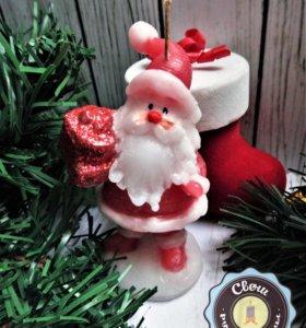 Свеча «Санта с подарками»