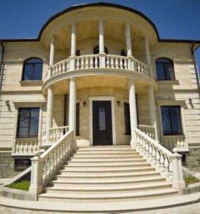 Облицовка домов дагестанским природным камнем