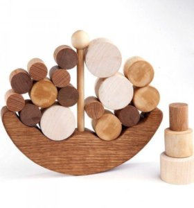 Деревянный балансир «Кораблик»