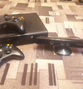 Xbox 360 E + Kinect + 8 игр