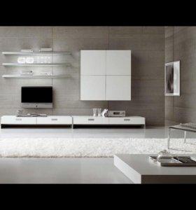 Мебель в гостиную. ТВ горка, стенка в зал