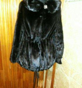 Норковая,ПАРКА,черн бриль.54 раз