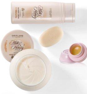 Подарочный набор Молоко и мёд Орифлейм 4 предмета