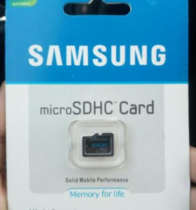 Карта памяти microSD 64 Гб Samsung
