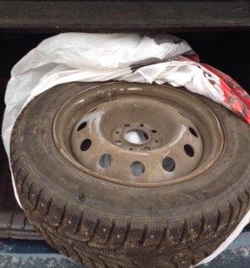Колеса шипованные ханкук R-14 на ВАЗ