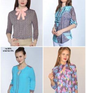 Блузы, туники, платья