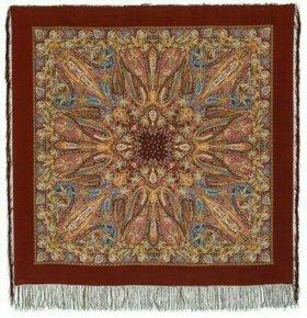 Павлопосадские шелковые платки 130см