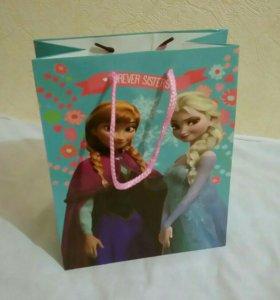Пакет подарочный для девочки