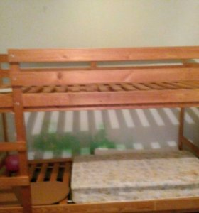 Двухярусная кровать Икеа без матрасов