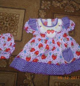 Детское платье с трусиками и носочки