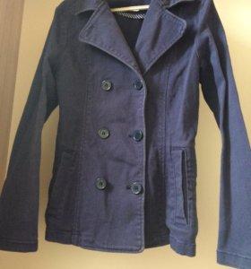 Джинсовый пиджак подростковый 10-12 лет