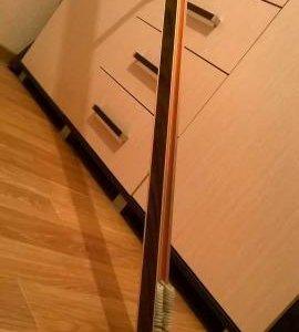 Гардина настенная, 2.5 метра с крючками
