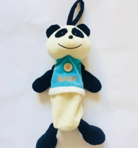 Мягкая игрушка панда с замочком сумка бутылочки