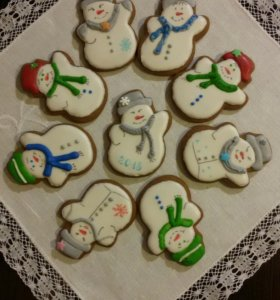 Новогоднее имбирое печенье