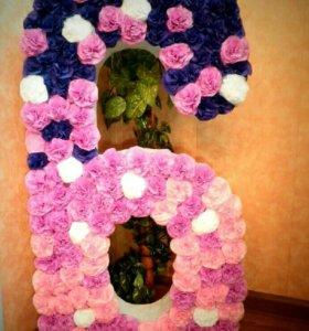 Декоративная цифра 6