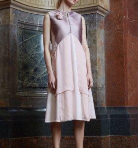 Дизайнерское платье из натурального шёлка