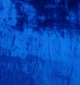 Ткань бархат синий ширина 1,2м 3,8 метра