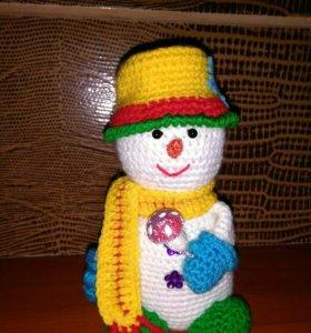 Снеговик (вязаные)