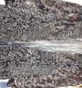 шуба натуральный каракуль