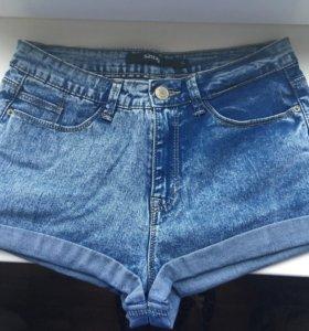 джинсовые шорты sinsay