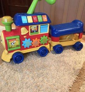 Толокар музыкальный , вагончик на 2-х детей