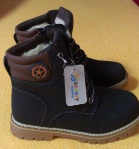 Новые зимние ботинки (на овчине) 35 и 36р!