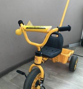 Трехколёсный велосипед с ручкой jaguar