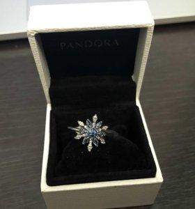 Кольцо Pandora снежинка
