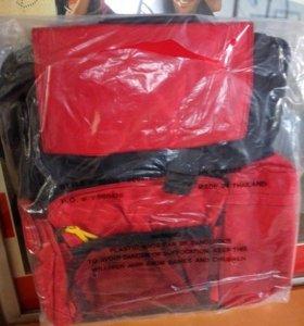 рюкзак большой красный