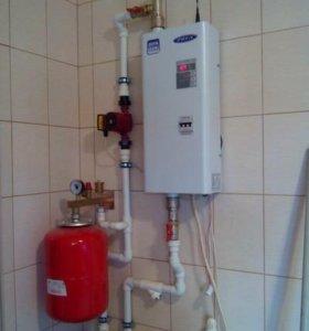 Отопление дома в 100 м² на электрокотле.
