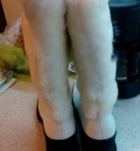 Сапожки новые, зима, 25 см