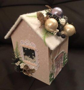 Новогодний домик для подарка