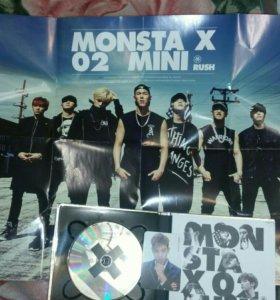 Monsta X CD с постером и фотокарточкой