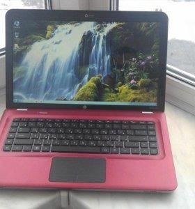 Красный стильный мощный ноутбук нр Pavilion dv6