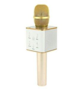 Беспроводной микрофон караоке q7. Новые. Разные цв