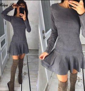 Платье под замшу новое