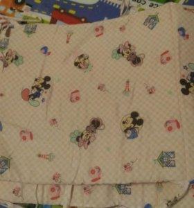 Бортики в кроватку с микимаусами