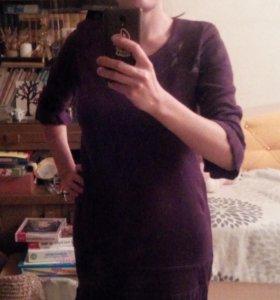 Новое теплое трикотажное платье