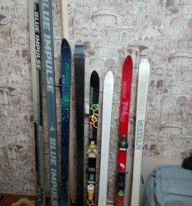 Горные лыжи 190, 150, 130, 140см.