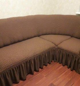 евро чехол на угловой диван