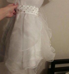 Платье детское праздничное, 5-7 лет